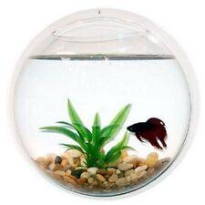 Wand montiert Fischglas Aquarium Pflanzendekoration Blase