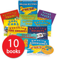 Amazing Machines Collection - 10 Books plus CD