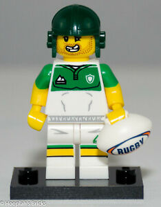 71025 RUGBY PLAYER LEGO MINIFIGURE SERIES 19 NEW UNOPENED!!!