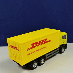 Diecast-1-64-Container-Truck-For-Express-DHL-1-64-Model-Toy-Kids-Gift-Car-Yellow