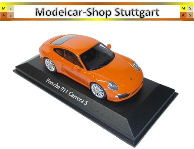 Porsche 911 CARRERA S 2012 Orange - minichamps 1:43 - New