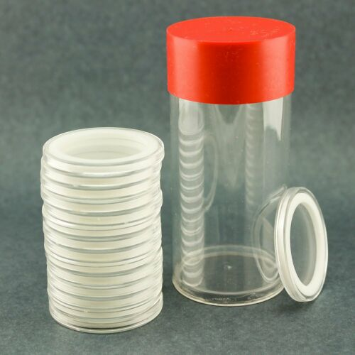 Airtite Coin Holder Storage Container /& White Ring 34mm Air-tite Coin 1 15