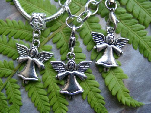 Anhänger Charmmit Öse Engel Motiv beidseitig Karabinerhaken Handyanhänger