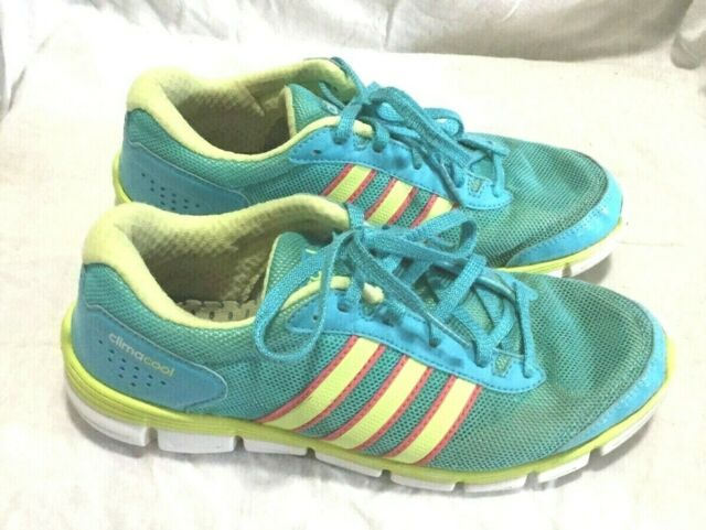 ADIDAS CLIMACOOL RUNNING SHOES BLUE YELLOW PINK SIZE 6 WOMEN`S | eBay