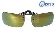 High Quality Revo Green Clip On Mirrored Polarised Sunglasses Clip-On ACP023