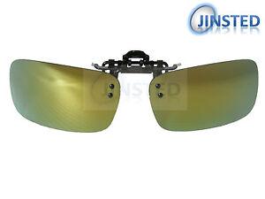 Haute-Qualite-Vert-a-Clipser-a-Reflets-Polarise-Lunettes-de-Soleil-Miroir-avec