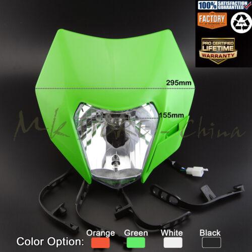 Motorcycle Dirt Bike Motocross Supermoto Universal Headlight Headlamp KTM EXC
