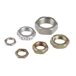 Hexagon-Hex-Half-Lock-Thin-Zinc-Nut-Fin-Pitch-Thread-M7-M8-M9-M10-M12-M14-M16-HQ