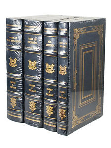 Easton-Press-MEMOIRS-OF-HARRY-TRUMAN-Leather-Bound-4-Vol-Set-Sealed-Limited