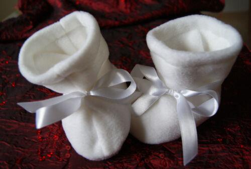 zu Taufkleid Taufschuhe Winter Fleece weiss Schuhe Stiefel für Taufe