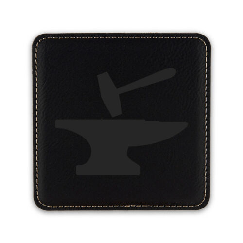 Hammer and Anvil Drink Coaster Leatherette coasters