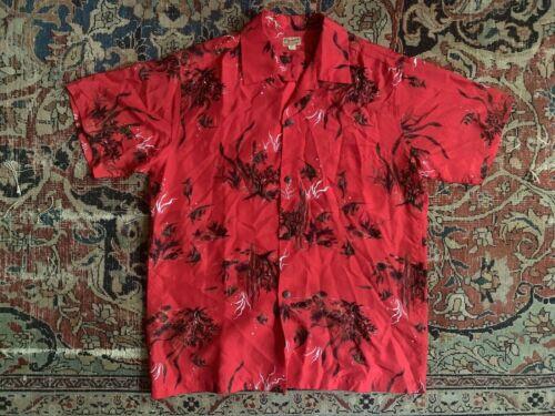VTG 40's 50's McInerny's Hawaiian Aloha Shirt Loop