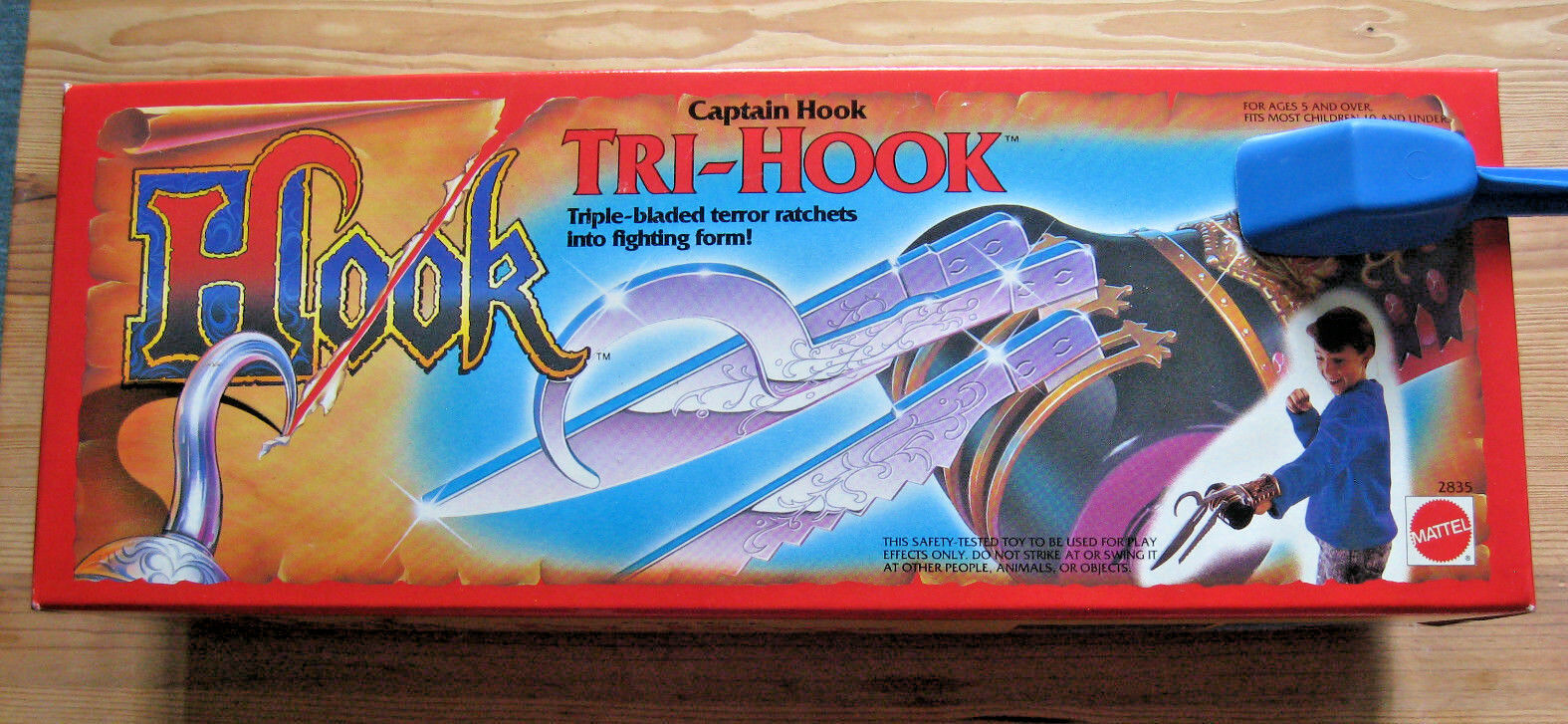 1991 1991 1991 Captain HOOK TRI-HOOK Ratchets Weapon PETER PAN MATTEL IN BOX COLLECTIBLE afd7ed
