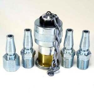 Schrader Twist Lock Quick Coupler Air Hose Connector Fittings 1//4 NPT Plug Kit