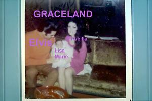 ELVIS-PRESLEY-LISA-MARIE-PRISCILLA-GRACELAND-2-10-68-OLD-KODAK-4x4-PHOTO-CANDID