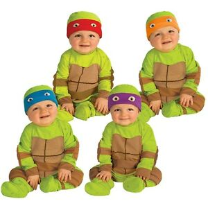 Image is loading Teenage-Mutant-Ninja-Turtle-Costume-Baby-Halloween-Fancy-  sc 1 st  eBay & Teenage Mutant Ninja Turtle Costume Baby Halloween Fancy Dress | eBay