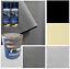 Kit-rivestimento-tessuto-cielo-tetto-auto-colore-nero-beige-grigio-colla miniatura 1