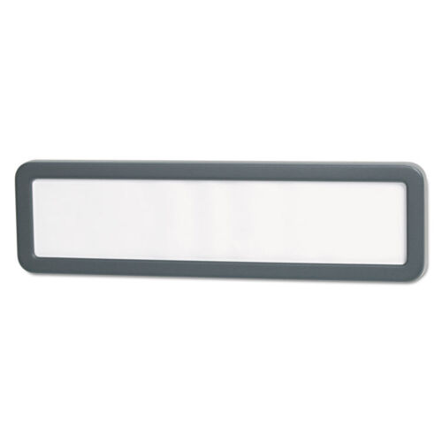 UNIVERSAL Recycled Cubicle Nameplate with Rounded Corners 9 x 2 1//2 Charcoal