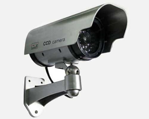 1 Pack IR Bullet Fake Dummy Surveillance LED Security Camera CCTV Record Light