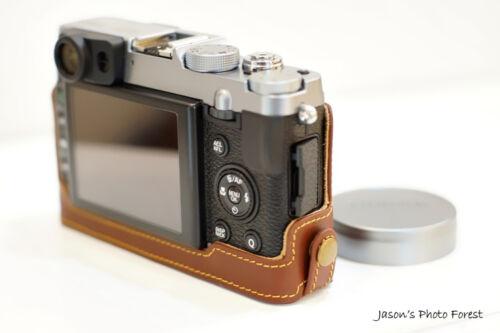 Original De Cuero Real completo cámara bolsa caso cubrir para Fuji X20 X10 inferior abrir