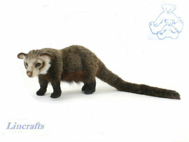 Aisian Palm Civet  Plush Soft Toy by Hansa. Sold by Lincrafts 5581 SALE