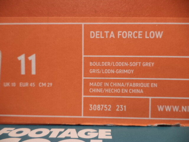04 Nike Air Delta Force gris 1 Low BOULDER BROWN LODEN OLIVE vert gris Force 308752-231 11 f77808