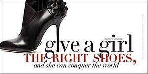 Geben-Ein-Maedchen-Die-Rechts-Schuhe-Marilyn-Monroe-Stahl-Zeichen-300mm-x-150mm