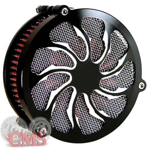 Torque Contrast Cut Black Air Filter Intake For 91-16 Harley Big Twins /& Sporty