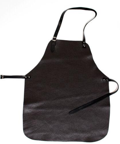 braun Grillschürze Premium Kochschürze Winzerschürze aus kräftigem Rindleder