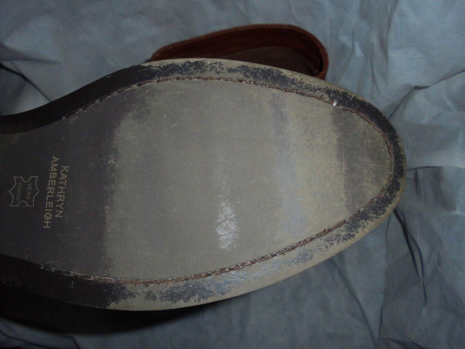 Kathryn amberleigh Femmes Marron en Cuir Cuir Cuir à Enfiler Knee High Boot taille 7a211c