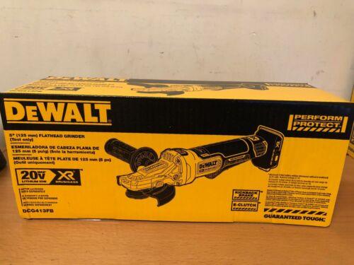"DeWalt DCG413FB 5/"" 20V  Brushless Flathead Paddle Switch Small Angle Grinder NEW"