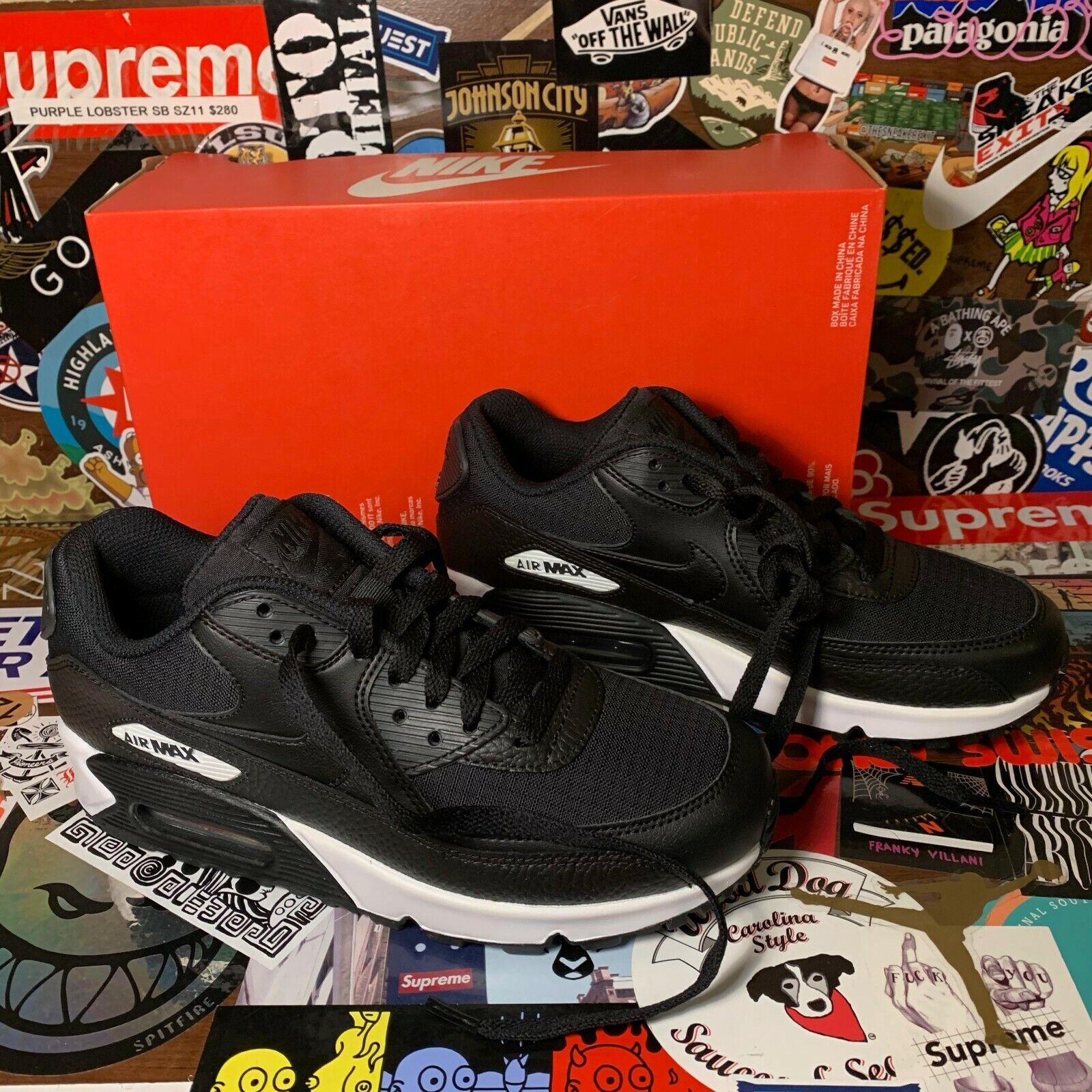 Nike Air Max 90 Black Black White Women's 7.5 NEW 325213-064   eBay