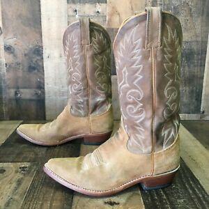 Dan Post Suede Cowboy Boots Mens 9 d | eBay