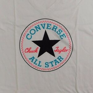 NEW-WOMEN-039-S-CONVERSE-ALL-STAR-LOGO-GRAPHIC-T-SHIRT-SIZE-US-XS-M-13430C
