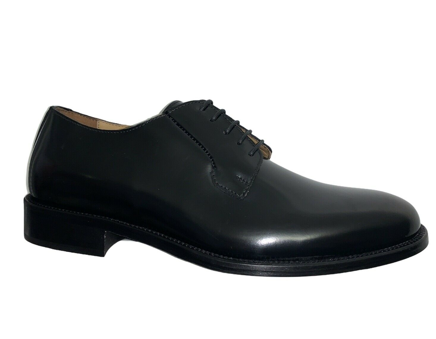 ROGAL'S Elegant Shoes Man cerimonia Leather Black Leather - Made IN Italy