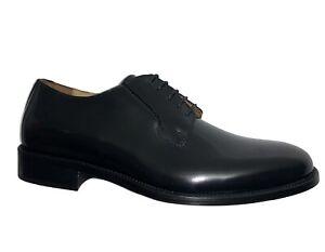 ROGAL'S Zapatos Elegantes Hombre cerimonia Cuero Negro Hecho en Italia