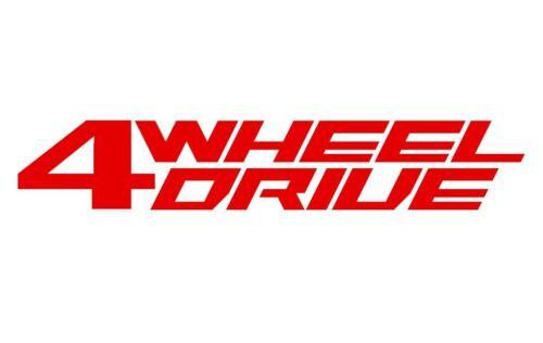 Red 4 Wheel Drive Vinyl Decal Sticker Jeep XJ JK CJ TJ YJ Willys XK 4x4