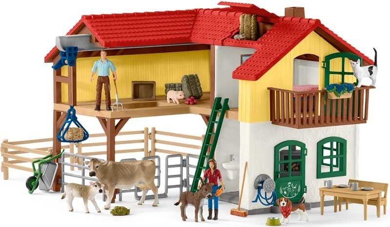 Schleich Farm World Large Farmhouse  42407 Playset - Farm Toy- 3 Years +