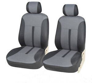 2 Pillows to Mercedes 860 Black Car Seat Covers 2 Front Semi-Custom Fabric