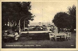 Boltenhagen-Mecklenburg-Vorpommern-1940-alte-s-w-AK-Ostsee-Hotel-Gartenlokal