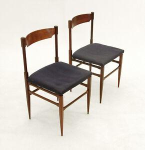 coppia sedie anni 39 60 italian design teak vintage chairs