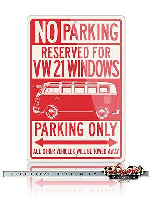 VW Car Volkswagen Bus Kombi Standard Reserved Parking Only 12x18 Aluminum Sign