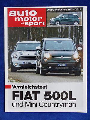 Liefern Fiat 500l Vs Mini Countryman - Vergleichstest - Sonderdruck Ams Heft 8/2013