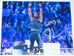 WWE-SIGNED-PHOTO-SETH-ROLLINS-WRESTLING-WRESTLEMANIA
