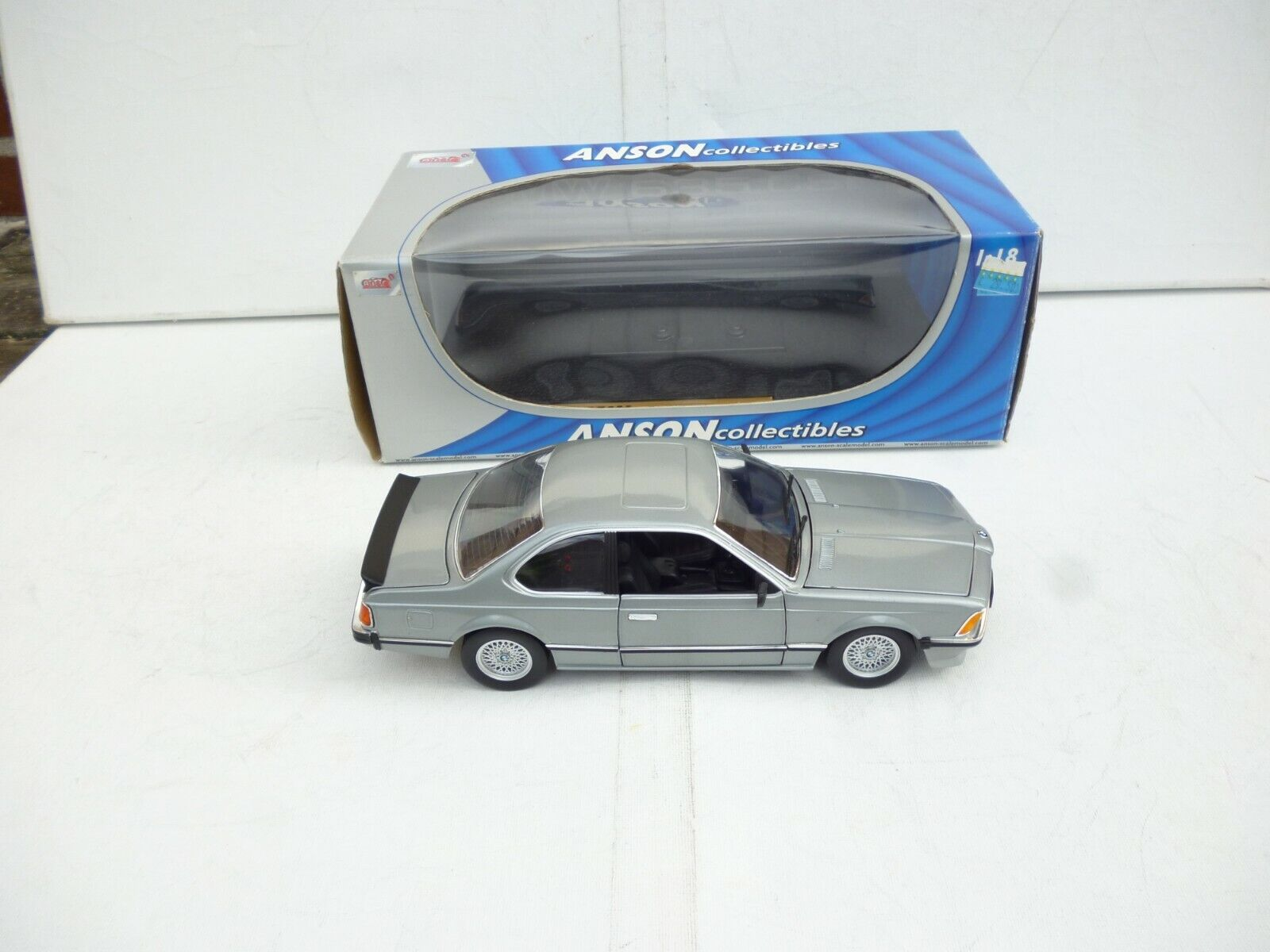 BMW 635 CSi Coupe  plata gris  ANSON 30404 1 18 NEW OVP