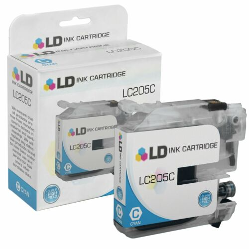 LD 9 Pack LC207 and LC205 Super HY Black /& Color Ink Cartridge for Brother
