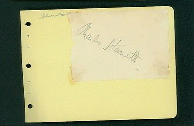Aggressive Charles Starrett Vintage Signed 3x4 Piece Of Paper Glued To Album Page Neither Too Hard Nor Too Soft Movies