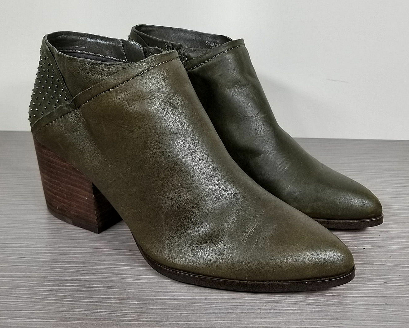 1.State Jelin Bootie, Hunter Leather, Womens Size 7.5 M   37.5