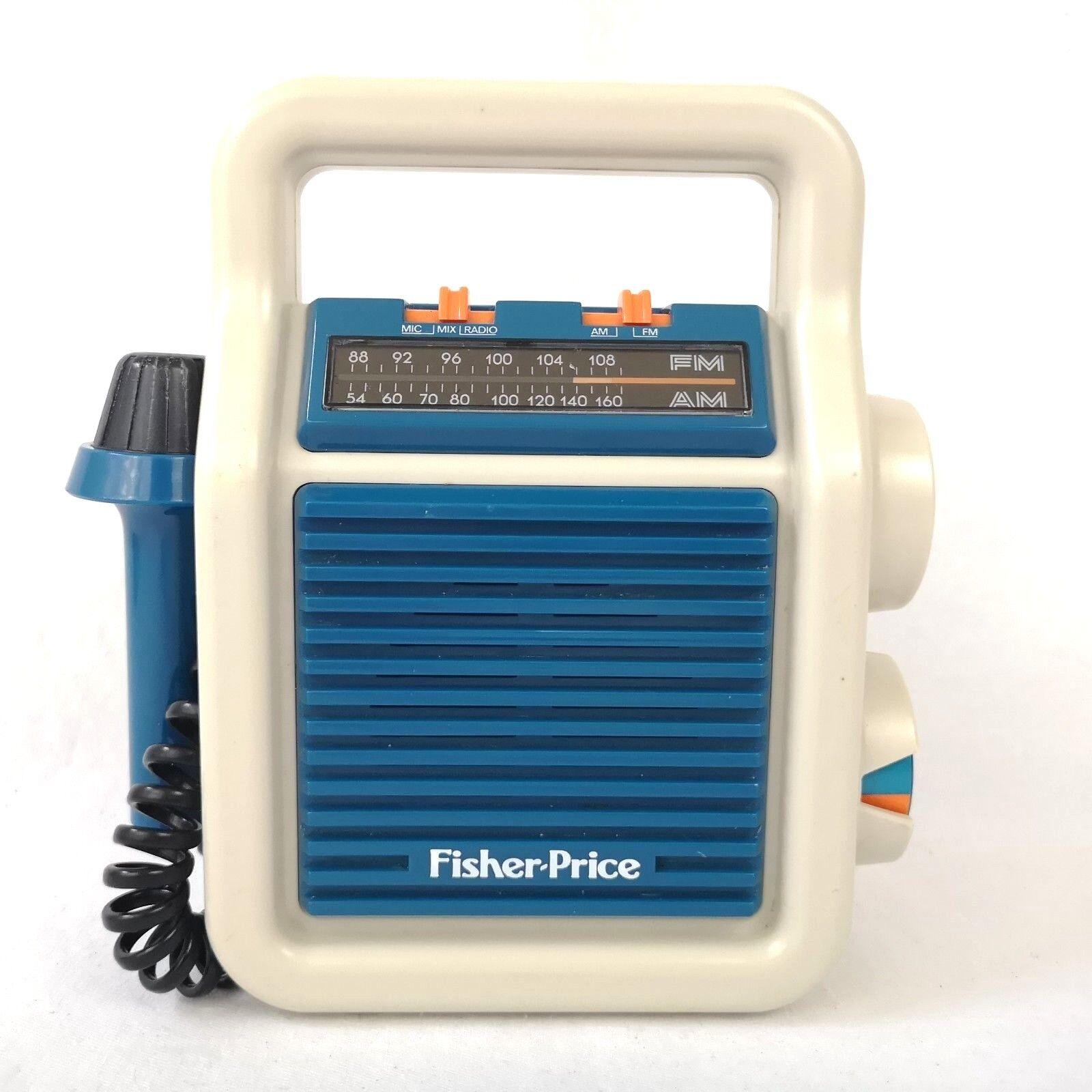 Fisher Price Vintage Vintage Vintage 1984 Sing Along AM FM Radio Speaker Microphone 3805 WORKS ef13dc