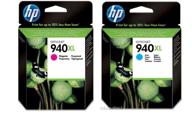 HP No.940XL Magenta C4908AE & 940XL C4907AE Cartucho de tinta Cian